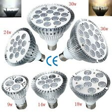 NEW E27 PAR20 PAR30 PAR38 LED Flood Light Bulb Lamp Dimmable 3/9/14/18/24/30/36W