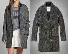 NWT Abercrombie & Fitch Wool Tweed Boyfriend Jacket Coat sz S M L