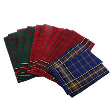12pcs Mens HANDKERCHIEFS 100% Cotton Pocket Square Hanky Handkerchief 40x40cm