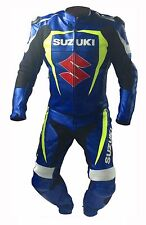 SUZUKI GSXR LEATHER SUIT MOTORBIKE/MOTORCYCLE LEATHER SUIT MEN JACKET TROUSER 2P