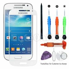 Touch Front Screen Glass Lens Replacement For Samsung S4 Mini White Tools Glue