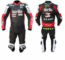 APRILIA LEATHER SUIT MOTORCYCLE LEATHER SUIT MOTORBIKE MEN RACING JACKET PANT