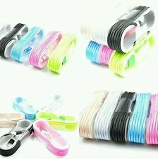 Lot :2pcs 5ft Fabric Usb Data Sync Charger Cable for Apple iPhone 5/6/6s/7/7plus