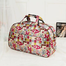 Large Tote Oxford Weekender Bag Genuine Leather Travel Duffel Carry On Luggage