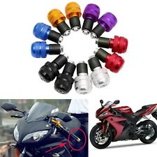 """2x 7/8"""" Motorcycle Anti Vibration Handle Bar End Plug Grip Ends Caps 22mm New"""
