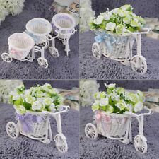 BowKnot Rattan Tricycle Bike  Basket Party Wedding Decor Gift Home Decor lot DP