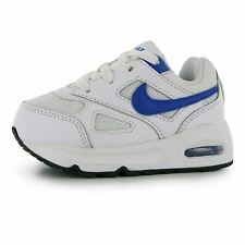 Nike Air Max Ivo Trainers Infant Boys White/Royal Sneakers Sports Shoes Footwear