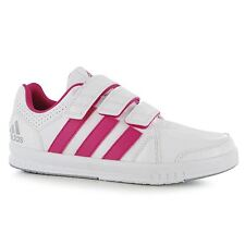 Adidas LK Trainer 7 Trainers Junior Girls White/Pink Sports Shoes Sneakers