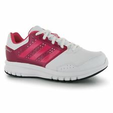Adidas Duramo 7 Synthetic Trainers Junior Girls White/Pink Sports Shoes Sneakers