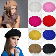 Vintage Womens Wool Winter Warmer Slouch Beanie Hat Soft Church French Beret Cap