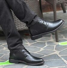 Mens Winter fur lined Ankle Boots Leather Dress Formal Lace Up Warm Shoes sz