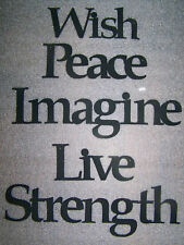 """STRENGTH """"Words to Live By"""" Wall Art Hanging Metal Sign"""