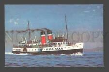 091542 UK Waverley last sea-going paddle steamer Old PC
