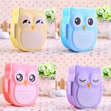 1050ML Owl Lunch Box Bento food-safe Plastic Food Picnic Container Portable TH