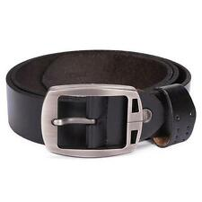 Men Genuine Leather Classic Jean Pin Buckle Reversible Waist Waist Dress Belt