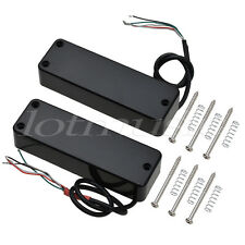 Guitar Humbucker Bridge Neck Pickups Set for 4 String Electric Bass Parts Black