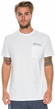 New Billabong Men's Scribble Ss Tee Short Sleeve Cotton White