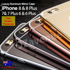 Luxury Ultra-Thin Aluminum Mirror Back Case Cover For iPhone 7 7 Plus 6 6s Plus