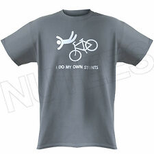 I Do My Own Stunts Funny Bike, Clumsy, Mens Ladies Kids T-Shirts Vest S-XXL