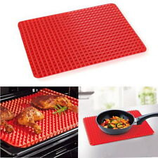 Pan Non Stick Fat Reducing Silicone Cooking Mat Oven Baking Tray Sheets#