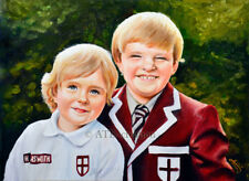 """Custom OIL PORTRAIT ON CANVAS - 9x12"""" - Hand painted Portrait from photo"""