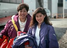 Art print POSTER / Canvas Kristi Yamaguchi with Her Mother at Winter Olympics