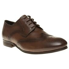 New Mens H by Hudson Tan Williston Leather Shoes Brogue Lace Up