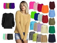Ladies Girls Oversized Knitted Baggy Jumper Women's Chunky Sweater Top Plus Size