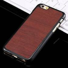 Wooden Pattern Hard PC+PU Phone Case for iPhone 6 6s/6 6s Plus Samsung Galaxy S7