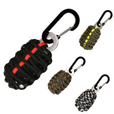 16 in 1 Survival Kit Emergency Key Chain Paracord Grenade Tools Fire Starter