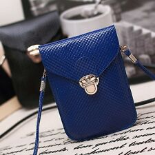 Women Wallet Purse Woven Coin Cell Phone Case Mobile Pouch Mini Shoulder Bag