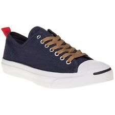 New Mens Converse Jack Purcell Blue Ripstop Ox Canvas Trainers Lace Up
