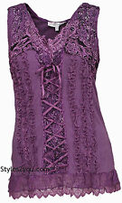 NWT  Pretty Angel Clothing Mercer Women's Vintage Corset Top In Mauve 67642