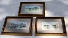 VINTAGE SET OF THREE SMALL FRAMED PRINTS/PHOTOS THE ROYAL AND ANCIENT St.Andrews