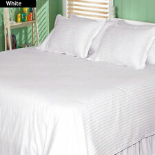 US-BEDDING COLLECTION 1000TC 100%EGYPTIAN COTTON WHITE STRIPE US TWIN SIZE