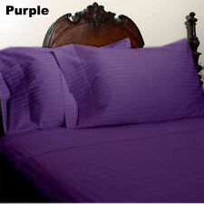 US-BEDDING COLLECTION 1000TC 100%EGYPTIAN COTTON PURPLE STRIPE US QUEEN SIZE