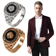 Hot Unique Design Crystal Gem Men's 18k Gold Plated Fashion Jewelry Ring lot DP