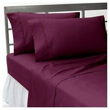 US-BEDDING COLLECTION 1000TC 100%EGYPTIAN COTTON WINE SOLID US QUEEN SIZE