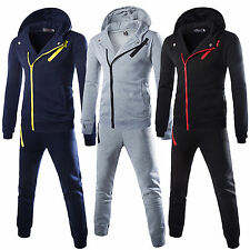 Mens Hoodies Apparel Tracksuit Set Fleece Hooded Sweatshirt Skinny Jogging Pants