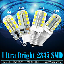 Luminous G4/G9/E12/E14/B15 LED Corn Bulb 12V/220V Cool Warm White Crystal Lamps