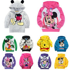Cartoon Baby Boys Girls Kids Mickey Minnie Mouse Tops Shirts Hoodies Sweatshirt