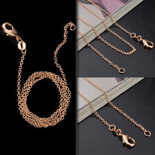 Wholesale Lots 1/5pcs 1MM Women Charm Rose Gold Chain Necklace Jewelry 16-20inch