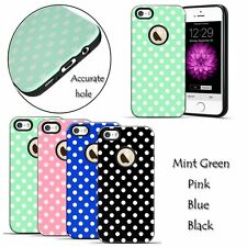 Cute Polka-dots Embossed Textured Soft TPU Case Cover For Apple iPhone SE 5S 5