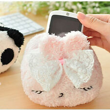 Cute Plush Mobile Cell Phone iPhone iPod touch Desktop Office Holder Lovely Toy