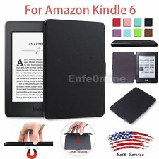 Slim Leather Hard Tpu Magnetic Smart Case Cover Skin For New Amazon Kindle 6