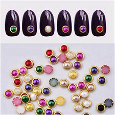 Hot 3D Nail Tips gems Crystal Glitter Rhinestone DIY Decoration + Wheel