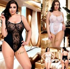 Nine X Body 'Aida' See Through Sheer Lace Body Suit S-8XL NEW