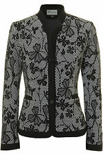 Busy Ladies Black And White Flowers Jacket