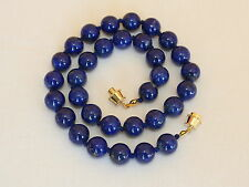 Natural Lapis Lazuli Necklace 10mm lapis VARIOUS Lengths Grade 'A' 10 mm Beads