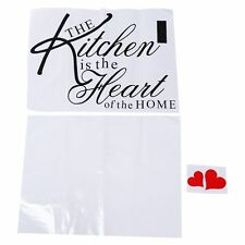 25S8 Wall Sticker QUOTE KITCHEN HEART HOME DINING ROOM Motto decor decal Vinyl A